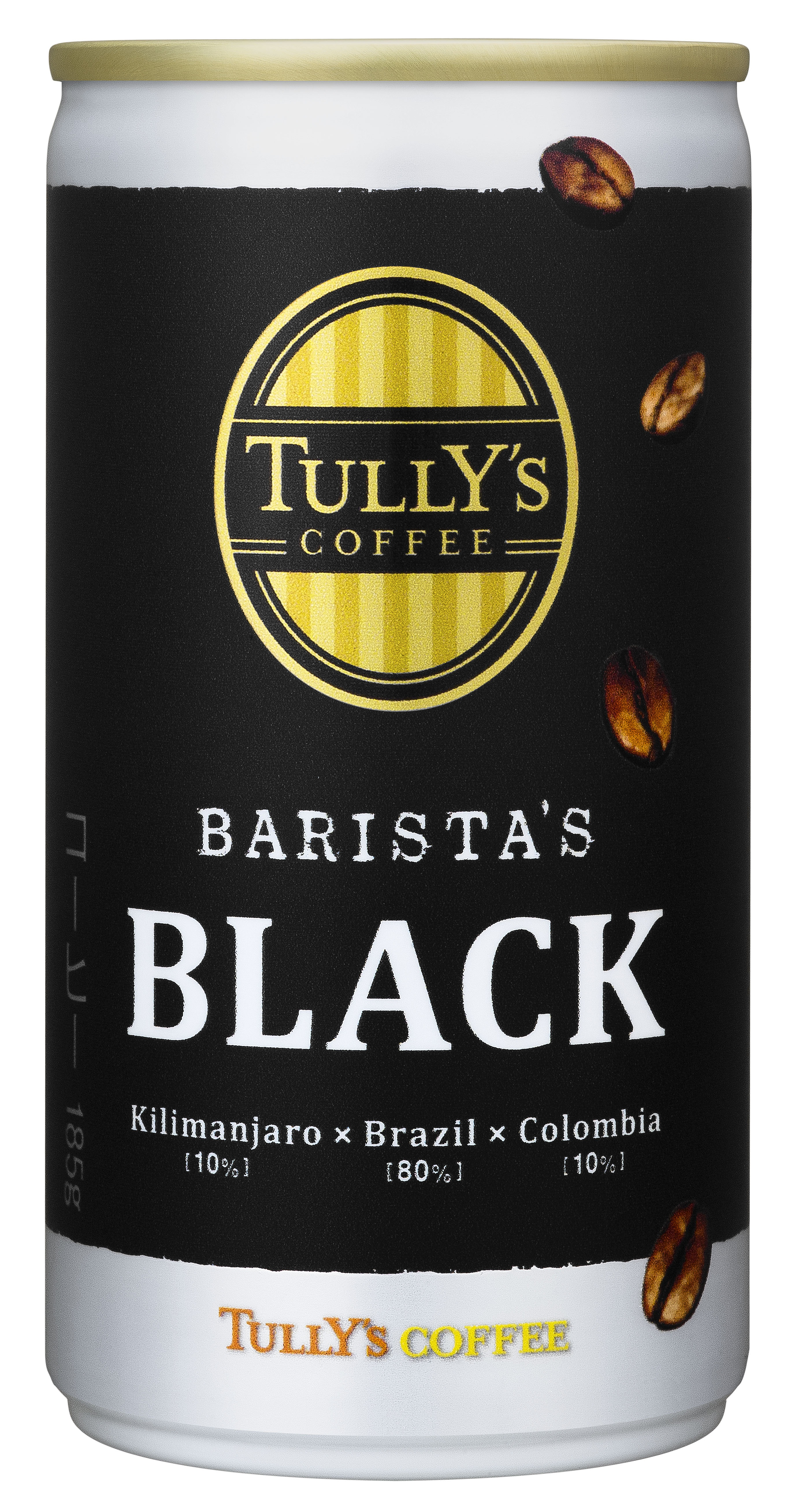「TULLY'S COFFEE BARISTA'S BLACK」185g缶